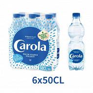 Carola bleue eau plate pet 6 x 50cl