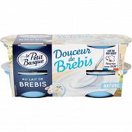 Le Petit Basque spécialité laitiere au lait de brebis nature 4x100g