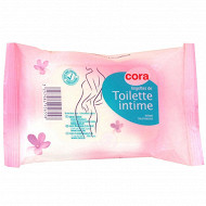 Cora lingettes intimes recharge x 20