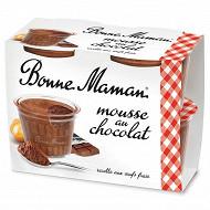 Bonne Maman mousse aux chocolats et aux oeufs frais 4x50g