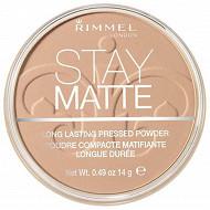 Rimmel NU poudre compacte stay matte transparent 001 14g