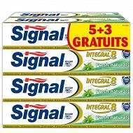 Signal intégral 8 dentifrice fresh naturals 5+3 offerts x75ml