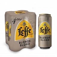 Abbaye de leffe blonde boites 4x50cl 6.6%vol