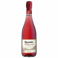 Lambrusco rose riunite 75cl 10%vol
