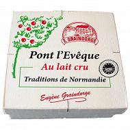 Pont lévèque tradition de normandie aop env 400g lait cru