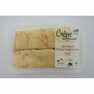Crepe jambon champignons (2x120g) 240g