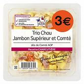 Trio chou jambon superieur et comte des de comte aop 300g