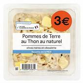 Pommes de terre thon au naturel olives noires et ciboulette 300g
