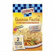 Lustucru céréales faciles quinoa lentilles carottes 2x150g