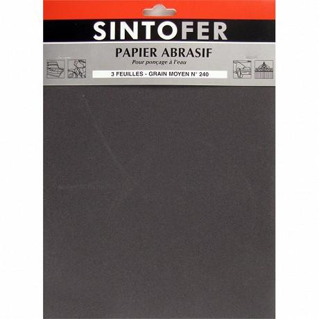 Sinto papier abrasif feuilles pour ponçage à l'eau grain moyen