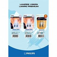 Philips 2 ampoules premium W1,2 W 12V