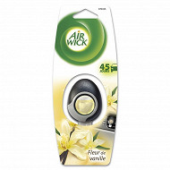 Air wick desodorisant voiture mini bicolore vanille