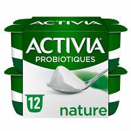 Activia lait fermenté nature au bifidus 12x125g