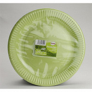 Cora assiettes x20 rondes vert granny 23cm