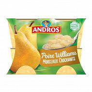 Andros dessert de poires williams avec morceaux 4x100g