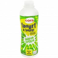 Cora yaourt à boire sucré aromatisé saveur citron 850g