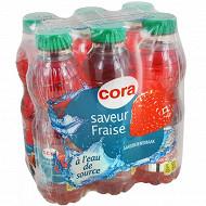 Cora eau aromatisée plate fraise pet 6x50cl