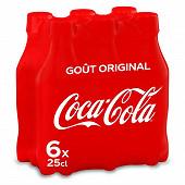 Coca-Cola pet 6x25cl