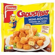 Findus mini rosti fromage croustibat 600g