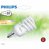 Philips ampoule Tornado T2 12W B22 WW 12 ans