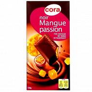 Cora chocolat noir fourré mangue passion 130g