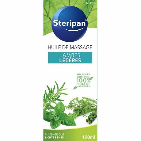 Steripan huile de massage jambes légères aux huiles essentielles 100ml
