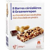 Barres céréalières chocolat cacahuète X8 200G