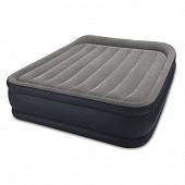 Intex lit gonflable fiber tech deluxe rest bed 2 places avec gei