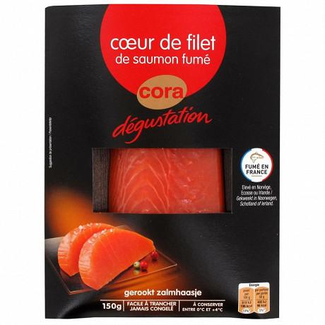 Cora dégustation coeur de filet de saumon fumé 150g