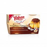 Yabon gâteau de semoule nappage chocolat 4x125g