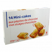 Mini cakes au pépites de chocolat 420g