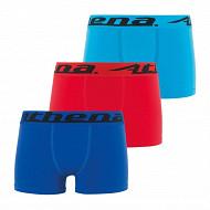 Lot 3 boxers Trio Choc EcoPack Athena 3000 GRIS/ROUGE/NOIR 14 ANS