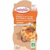 Babybio bol panais courge canard polenta sans gluten12 mois 2x200g