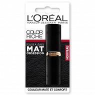Color riche rouge à lèvres mat obsession N°346 red perfection blister