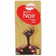 Cora chocolat noir dessert 52% 200g