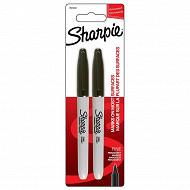 Sharpie 2 marqueurs pointe fine noir