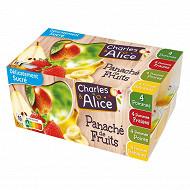 Charles & Alice spécialité de pommes fraises poires et banane 16x125g