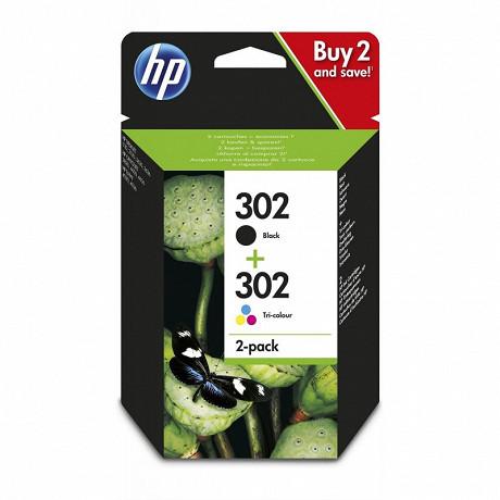 HP N°302 Pack Noir + Couleurs