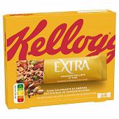 Kellogg's extra barre amandes grillées cacahuètes et miel x4 128g