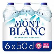Mont Blanc eau minérale naturelle 6x50cl