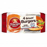 La Fournée Dorée brioch' burger x4 250g