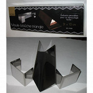 Moule à bûche triangulaire inox