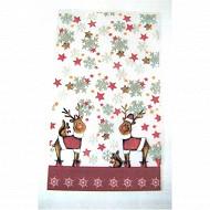 Sachets biscuits x10 + liens 14x23cm décor rennes