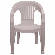 """Grandsoleil fauteuil """"sole"""" coloris taupe 57x61.5x79 cm"""