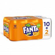 Fanta orange 10+2 boites offertes 12x33cl