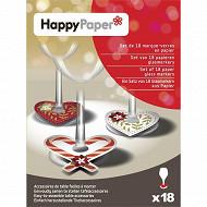 Marque verres x18 tradinoël en papier