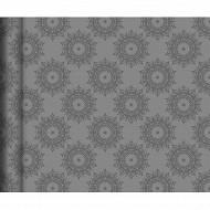 Cora chemin de table brio gris rosette 4m80x0m38