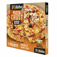 Sodebo pizza crust farmer poulet sauce barbecue 600g