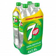 7up reg citron/citron vert format familial 4x1.5l