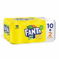 Fanta citron frappé 10+2 boites offertes 12x33cl